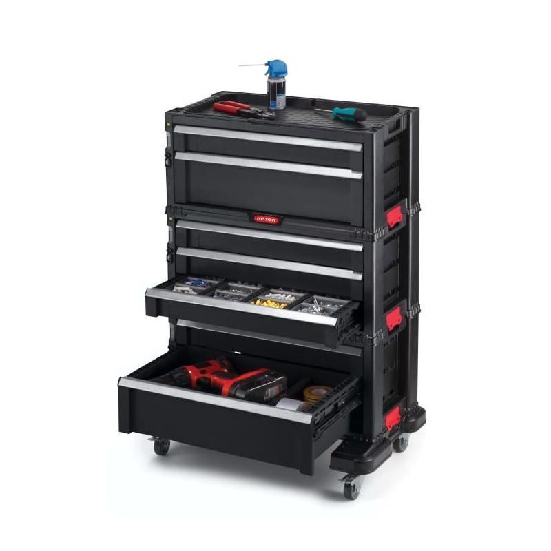 KETER-Servante-a-outils-7-tiroirs-Modulable-avec-verouillage-centralise-60-x miniature 2