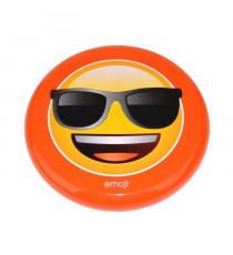 EMOJI Disque volant frisbee Lunette de Soleil - 23cm - Jaune et Orange