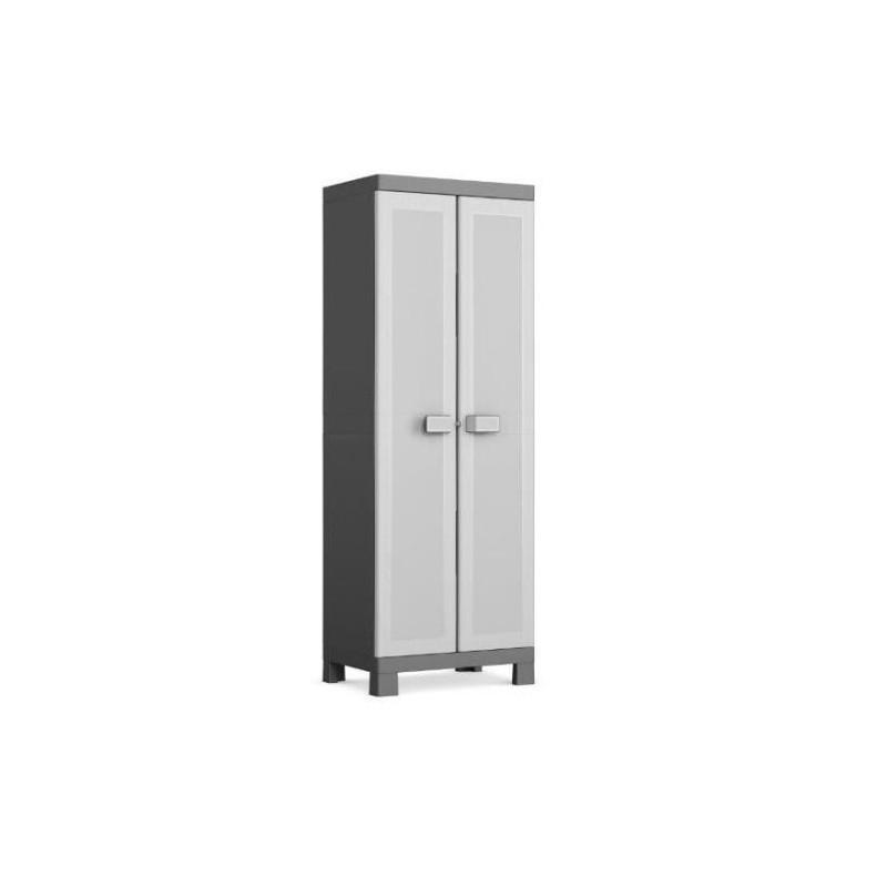 KIS-Armoire-de-rangement-utilitaire-Logico-XL-89-x-54-x-182-cm-Noir-et-gris