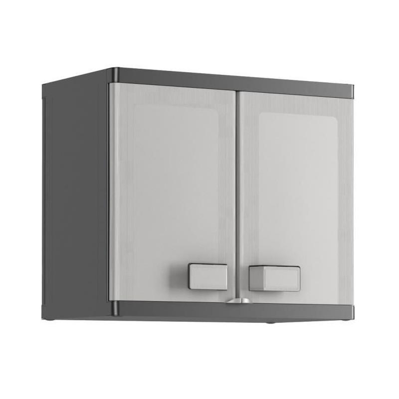 KIS-Armoire-de-rangement-murale-Logico-65-x-39-x-56-5-cm-Noir-et-gris