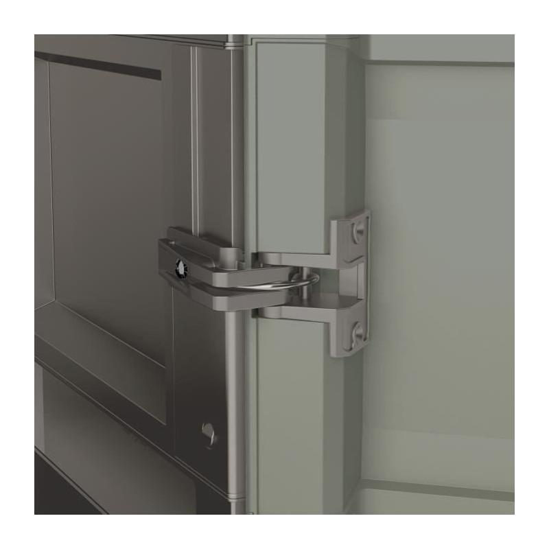KETER-Armoire-haute-de-rangement-Wood-Grain-Texture-bois-2-portes-piedsaj miniature 2