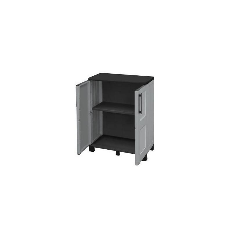 SOGENEX-Armoire-de-rangement-basse-en-resine-1-tablette miniature 2
