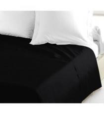 LOVELY HOME Drap Plat 100% coton 240x300 cm noir