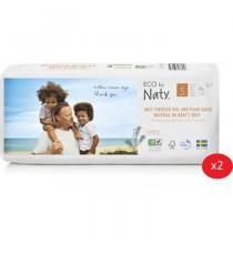 NATY - Lot de 2 paquets de couches Taille 5 12-18 kg 40 pcs