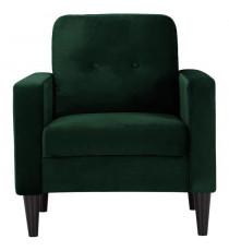 IBRA VELVET Fauteuil - Velours vert foret - Classique - L 80 x P 81 cm