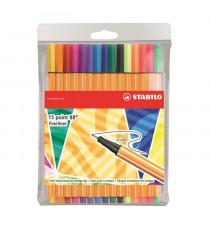 STABILO 15 stylos-feutres