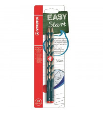 STABILO 2 crayons graphite HB EASYgraph S droitier - Bleu ardoise
