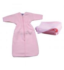 DOMIVA Gigoteuse + plaid - 0-6 mois - 70 x 80 cm - Bébé fille - Rose