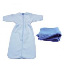 DOMIVA Gigoteuse + plaid - 0-6 mois - 70 x 80 cm - Bébé garçon - Bleu ciel et azur