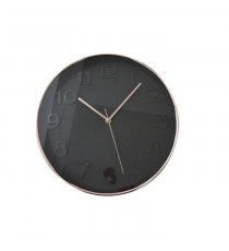 Horloge murale ronde diametre 30,5 cm Noir