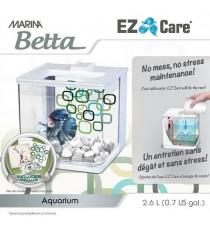 MARINA Aquarium Ez Care pour betta - 2,5 L - Bleu