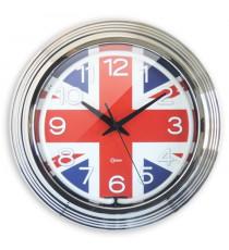 ORIUM Horloge murale Néon London - Ø 38 cm - Drapeau anglais