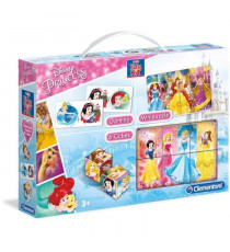 CLEMENTONI  Mini Edukit - Disney Princesses - Dominos, Puzzle et 6 Cubes