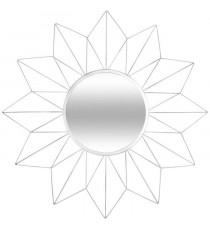 ATMOSPHERA Miroir en forme d'étoile - Métal, verre et carton - Diametre : 60 cm - Argent