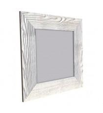 BOLOGNE Miroir MDF 67x67 cm Blanc laqué