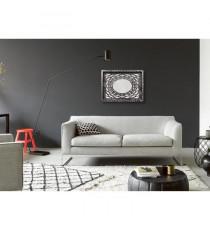 MILAN Miroir MDF 55x75 cm Marron et argenté