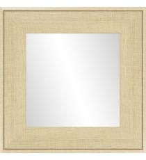 Miroir en hetre Ds - 30x30 cm - MDF - Moulure 8 cm - 46x46 cm
