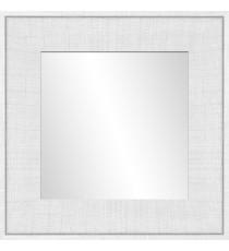 Miroir blanc Ds - 30x30 cm - MDF - Moulure 8 cm - 46x46 cm