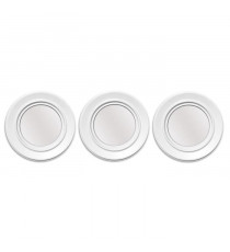 Lot de 3 miroirs ronds abstraits - Blanc - Ø 25 cm