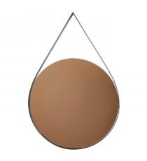 Miroir oval en métal - 30 x 45 x 2 cm - Noir