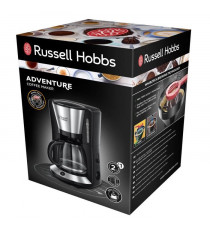 RUSSELLHOB Cafetiere filtre Adventure - 24010-56 - 1.25 L - Acier brossé/noir