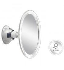 Miroir grossissant x10 AUTONOMIE ET BIEN eTRE TMI 6878 - Fixation a ventouse - 18 x 9 x 20cm - Taupe
