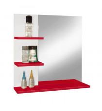 CORAIL Miroir de salle de bain L 60 cm - Rouge haute brillance