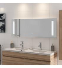 LOUNGITUDE Miroir rétro-éclairé - Cadre métal - L 140 cm - LED1