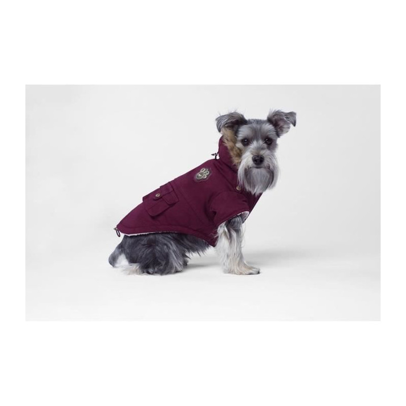 CANADA-POOCH-Manteau-Army-Parka-16-8-11-kg-Bordeaux-Pour-chien miniature 2