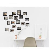 PLAGE Sticker déco Cadres papillons - Planche 48x68 cm