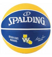 SPALDING Ballon de basket-ball NBA Team Golden State - Bleu et jaune - Taille 5
