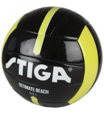 STIGA Ballon de football et volley Ultimate beach - Noir et jaune - Taille 4