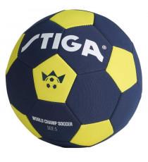 STIGA Ballon de football Coupe du monde 2018 - Bleu et jaune - Taille 5