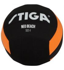 STIGA Ballon de football et volley Néo beach - Noir et orange - Taille 5