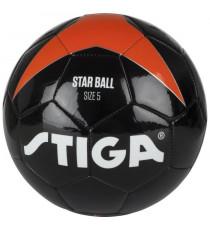 STIGA Ballon de football Star - Noir et orange - Taille 5