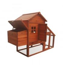 POILS & PLUMES Poulailler Coco en bois 4 poules - 172x65x120 cm