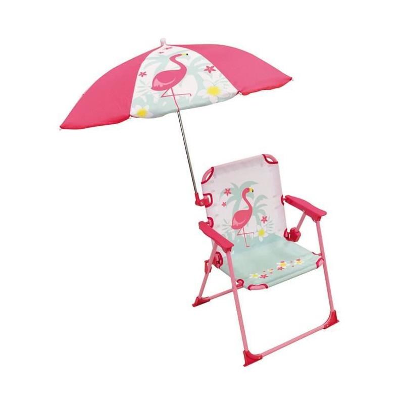 FUN-HOUSE-Chaise-Parasol-Flamant-Rose-Pour-Enfant