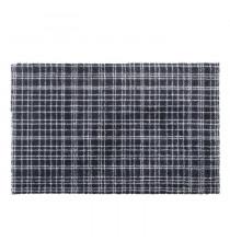 Tapis d?entrée FUSION DRY - Noir rayé gris clair - 60x100 cm - Support vinyl antidérapant