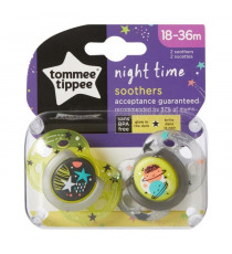 TOMMEE TIPPEE Sucette Night - Lot de 2 - 18 - 36 mois