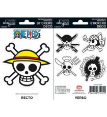 Stickers One Piece - 16x11cm  / 2 planches - Pirates Flag - ABYstyle