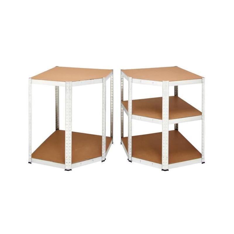 MANUPRO-Etagere-d-039-angle-d-039-atelier-Charge-lourde-1250-kg-5-plateaux-250-kg miniature 2