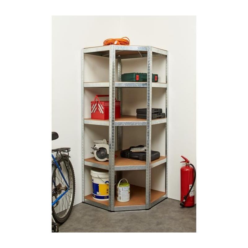 MANUPRO-Etagere-d-039-angle-d-039-atelier-Charge-lourde-1250-kg-5-plateaux-250-kg miniature 3