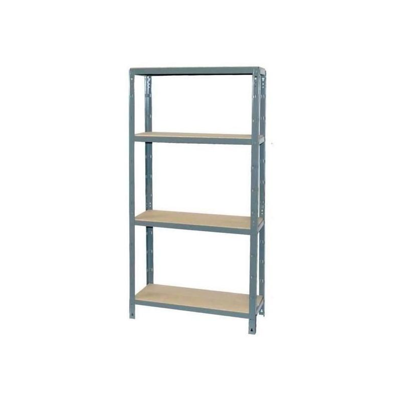 ALTHOME-Etagere-4-plateaux-120-kg-Couleur-gris-fonce miniature 2
