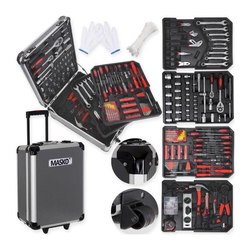 MASKO Valise multi outils 725 pieces noir - leader-discount.com baf6036e3eb